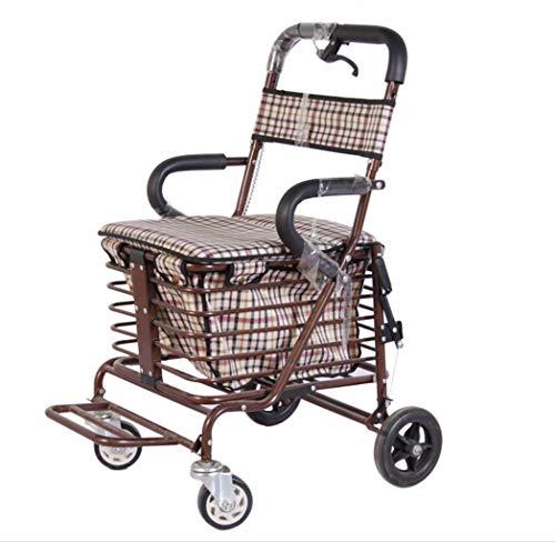 L-Y Alter Einfachheit Alter Einfachheit Rollstühle Alter Einfachheit Rollstuhl, Älterer Wanderer, Gehhilfe, Alter Einkaufswagen, Vierrädriger Wagen
