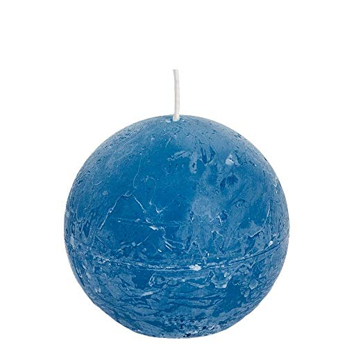 Spaas - Velas esféricas (6 Unidades, 80 mm de diámetro, Cera de parafina), Color Turquesa