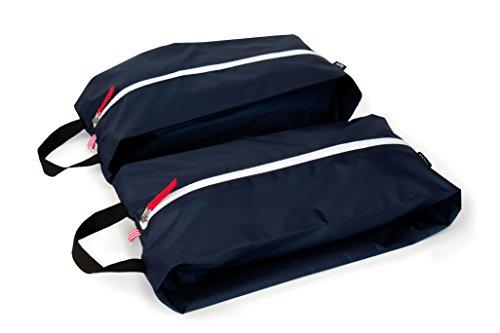 kiezels - set di 2 leggere borse per scarpe / organizer per valigie - blu notte