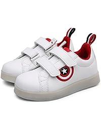 Zapatillas de deporte con luces LED para niños Zapatos deportivos de luces intermitentes con carga USB GEERBU