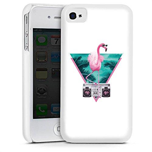 Apple iPhone 5s Housse Étui Protection Coque Flamand rose Triangle Triangle Cas Premium mat