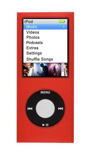 Silicon Case iPod Nano 4G Red Logic3 Ipod Nano 3 Silicon Case