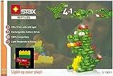 Light STAX S-13011 - Set di 105 Pietre LED compatibili con Lego, per 4 rettili (Dinosauri, Drago, Coccodrillo, Tartaruga)