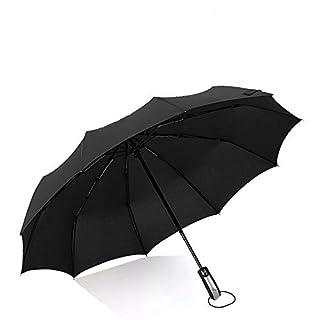 Amtop 46inch Travel Umbrella Auto Open Close Folding Golf Size and high-Density Windproof Black Umbrella