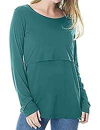 BBsmile Ropa para Mujeres Embarazadas Maternidad de la Mujer Tops de enfermería cómodos Manga Larga Camiseta