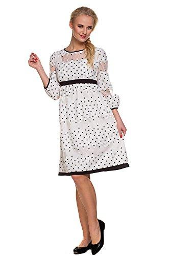 My Tummy Mutterschafts Kleid Umstands Kleid Amelia mit Spitze Polka Dot Elegant Hochzeit - 3
