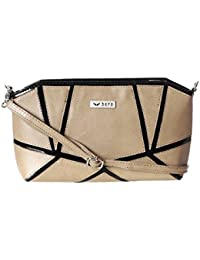 Bern Beige And Black Color Casual Sling Bag For Women