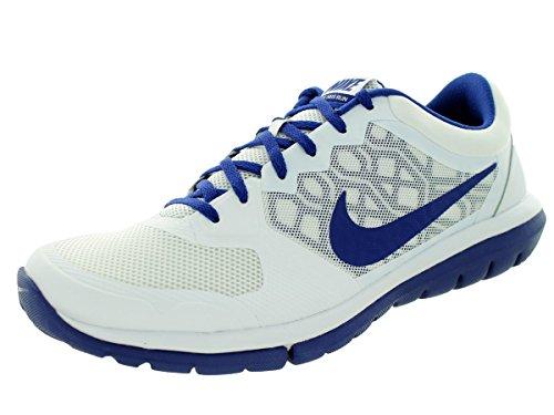 Nike Flex 2015 Rn Scarpe da ginnastica, Uomo Bianco