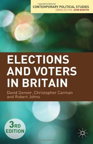 Elections and Voters in Britain (Contemporary Political Studies) by Denver. David ( 2012 ) Paperback