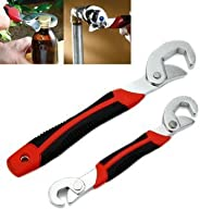 Homeproducts4U Multipurpose Yajun Wrench - Pack of 2-9Mm to 32 Mm Works Like Snap N Grip-Red