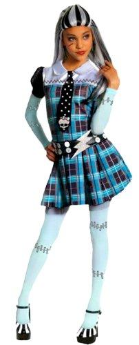 n Faschingskostüm Monster High Horror, blau, 8-10 Jahre (Draculaura Mädchen Kostüm)