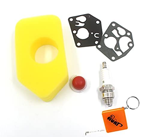 HURI Lawnmower Tune up Kit A. Diaphragm Air Filter Spark Plug Primer Bulb for Mountfield HP470 SP470 SP470ES Lawnmower Replace 992300,495770, 49440,