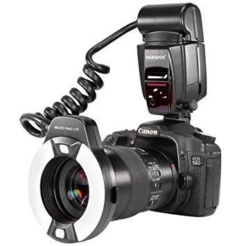 Neewer® TTL Makro-LED-Ringblitz Ringleuchte Ring Flash für Canon E-TTL TTL-Kameras / wie Canon EOS 5D Mark II EOS 6D EOS 7D EOS 70D EOS 60D EOS 60Da EOS 700D 650D 600D 400D 350D 300D 100D 1000D 1100D Rebel T5i T4i T3i Xti XT SL1 XS T3