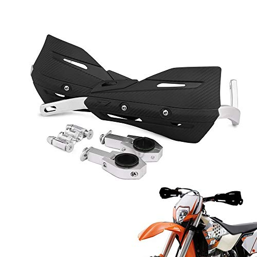 22 mm und 28 mm Aluminium Motorrad Hand Brush Guards Handprotektoren Universal Mounting Kits für Honda Yamaha Kawasaki Suzuki Dirt Bike MX Motocross Supermoto Racing ATV (schwarz) (Dirt Bike Hand Guards)