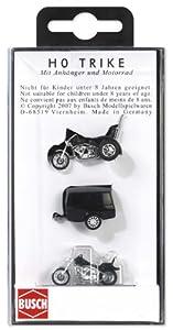 Busch 1152 - Triciclo con Remolque y Motos