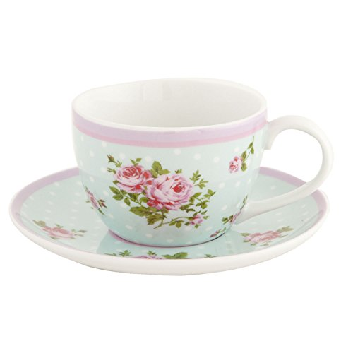 EHKS Clayre & Eef - English High Tea - Coffee cup with saucer - Porcelain - Flowers ca. 0,2L