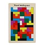Tetris Rompicapo del legno. Puzzle educativo del gioco. Legno Jigsaw giocattolo per bambini immagine