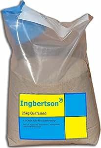 Ingbertson® 25kg Quarzsand 0,4-0,8mm Sand für Sandfilteranlage