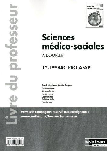 Sciences médico-sociales - 1re et Term Bac Pro ASSP par Élisabeth Baumeier