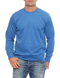 Benter Mens Pullover Sweatshirt Fine Knit with Stand-up Collar Logo Patches 16883