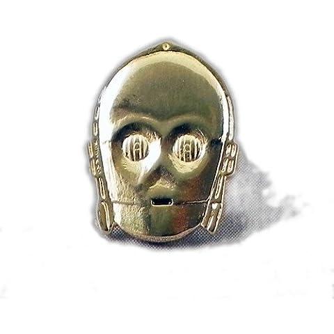 Esmalte de oro (placa de metal pin broche StarWars Android C3P0(Star Wars C3PO Droid)