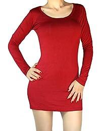 Long t-shirt manches longues mini-robe à manches longues fbf9c8bc444d