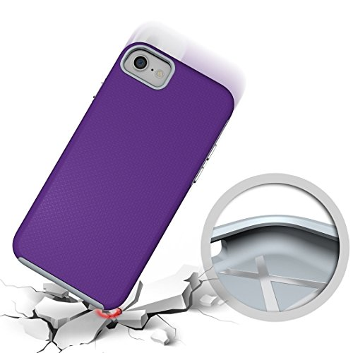 Für iPhone 7 Ball Texture Anti-Rutsch PC + TPU Schutzmaßnahmen zurück Fall Fall DEXING ( Color : Green ) Purple
