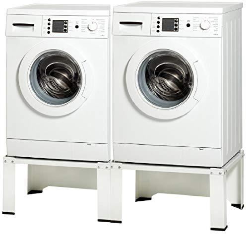 Doppel Untergestell für Waschmaschine Trocker Kühlschrank Doppelsockel Unterschrank Erhöhung -