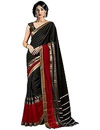 Indira Designer Women's Cotton Silk Saree With Blouse