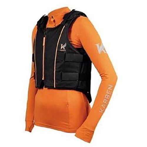 Shires Adults Karben Body Protector Medium - Regular Black - Protector Body Pferd