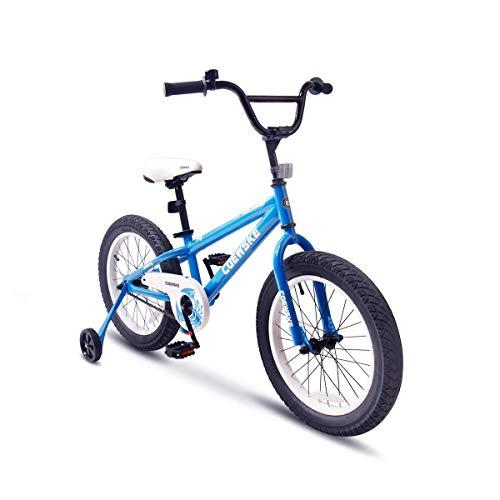 COEWSKE BMX Radfahren Kid Bikes Kinder Sport Fahrrad Snow Bike Fett Reifen für Mädchen und Jungen 16 Zoll mit Trainingsrad (Blau) - Rot-bmx-fahrrad-reifen