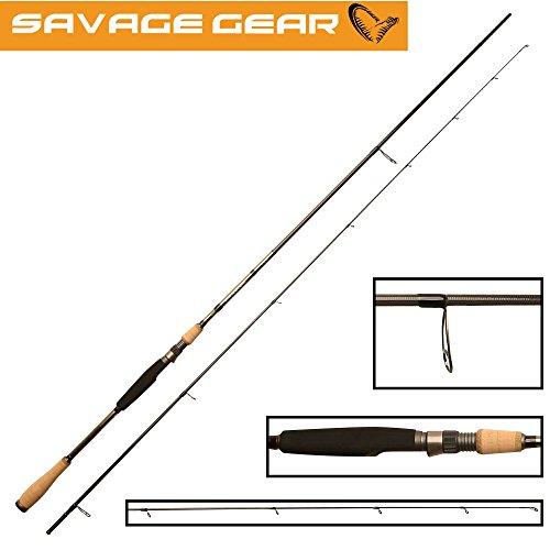 Savage Gear Dropshot XLNT2 228cm 7-25g Dropshotrute, Angelruten zum Angeln mit Dropshotmontage, Spinnruten für Drop Shot Fischen, Barschrute, Zanderrute