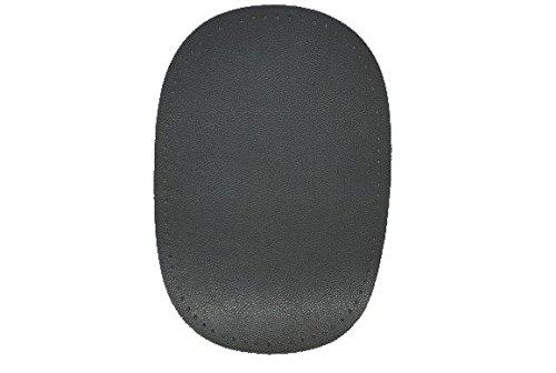 alles-meine.de GmbH ovaler Flicken - mittel grau Leder 10 cm * 15 cm Aufnäher zum Aufnähen...