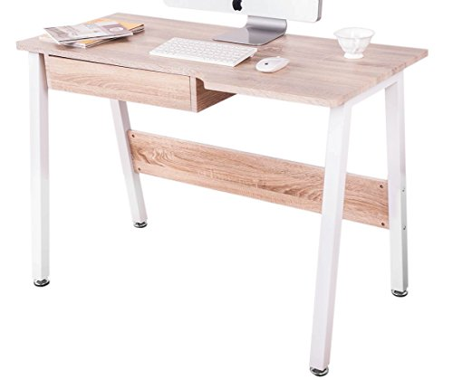 Life Carver New Home Office Desk Study Laptop Desk Computer PC Writing Table WorkStation Wooden & Metal