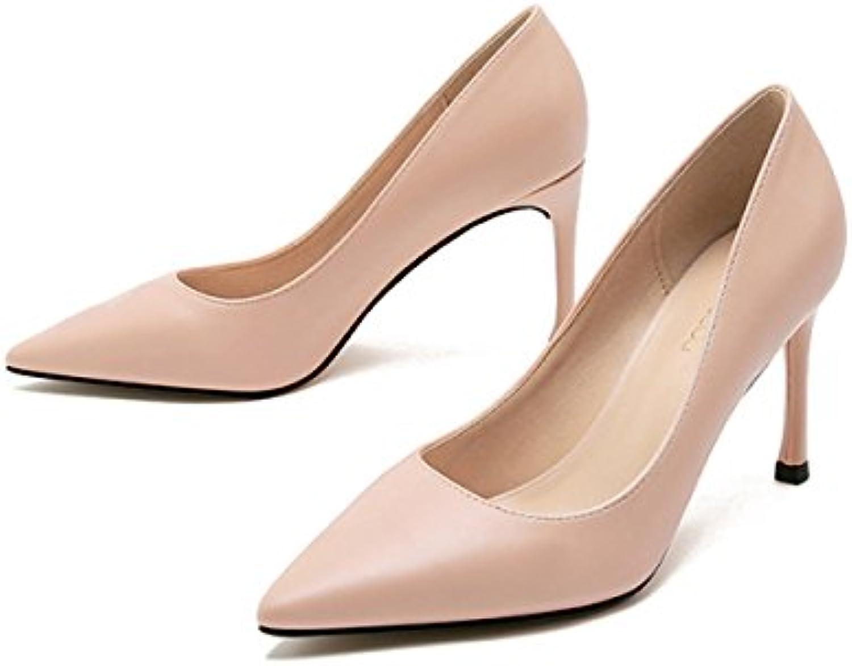 Frauen Business Sexy High Heels Arbeit Business Frauen Pumps Damen Elegante Spitzschuh Schuhe 54cd01