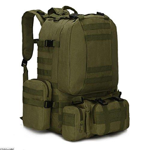 LF&F Backpack Camping outdoor Zaini Borse Viaggio Panno di Oxford Indossabile zaino all'aperto esercito camuffamento montagna scalata impermeabile 33L doppio zaino spalle G 33L C