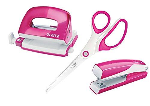 Leitz WOW pink (pink metallic, Mini Locher+ Heftgerät | Schere) -