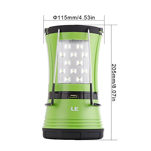 41i21SmH7xL. SS500  - LE LED Camping Lantern with 2 Detachable Torches, USB Rechargeable and Battery Operated, 600 Lumen Tent Light, Outdoor Searchlight for Emergency, Hiking, Fishing, Power Cuts and More
