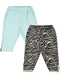 Lil Orchids Girls Pack of 2 Casual Knee Length Pant(LO-2PCK-WVN-CPR-CMB-8)