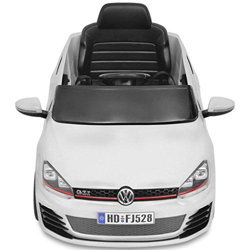 RC Auto kaufen Kinderauto Bild 4: SENLUOWX Kinderauto Elektroauto VW Golf GTI 7 Weiß 12 V Kinderfahrzeug Kinderauto mit Fernbedienung*