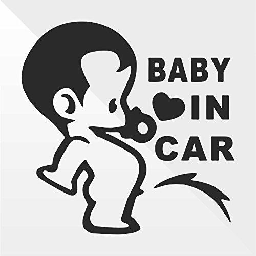 Sticker Bambini a bordo Baby on board bébé à bord bebé a bordo Baby an Bord - Decal Auto Moto Casco Wall Camper Bike Adesivo Adhesive Autocollant Pegatina Aufkleber - cm 15