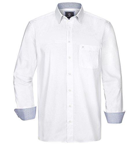 Jan Vanderstorm Herren Langarm Hemd Styrkaar Farbe Weiß Größe 41/42 (L)