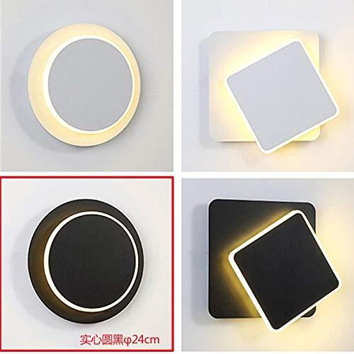 GYBYB chlafzimmer Wohnzimmer Nachtlicht Ganglichter moderne minimalistische LED-Leuchten Art Deco Wandleuchten Solides Quadrat @ 24cm