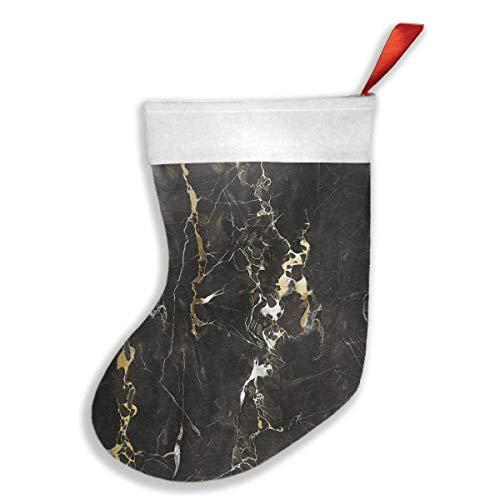 d Black Pattern Christmas Stockings, Classic Christmas Stocking Santa Xmas Character Party Decoration ()
