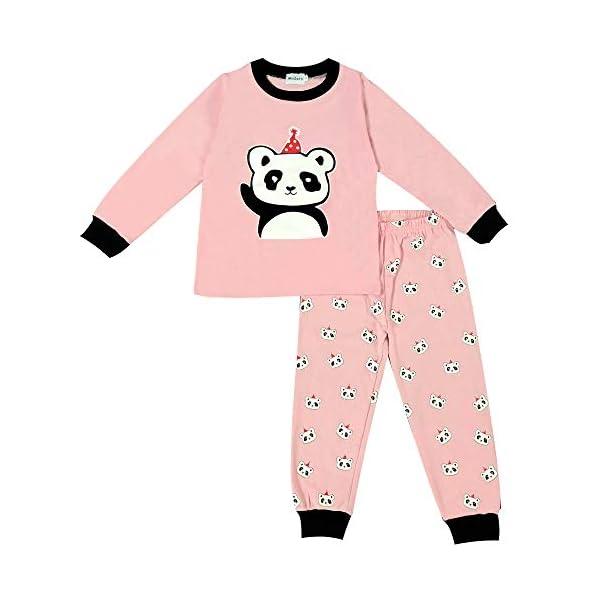 Winzero - Conjunto de pijama de Navidad para niñas, manga larga, algodón, pijama, camisas, pantalones y camisas, ropa de… 1