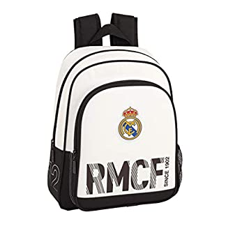 41i25rsxSAL. SS324  - Real Madrid 611854006 2018 Mochila Escolar Pequeña, 28x34x10cm, Blanco