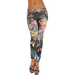 Ninimour Pantalones elásticos Leggings elastic Jeans para Mujer (Talla única, 12)