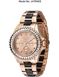 Madison New York L4794D2–Uhr für Frauen, Edelstahl-Armband