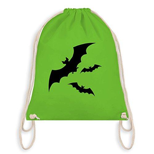 - Fledermaus - Unisize - Hellgrün - WM110 - Turnbeutel I Gym Bag (Schaurige Kinder Halloween Kostüme)