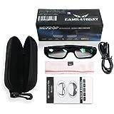 Gafas de cámara con lentes claros , Spy Cam Anteojos, Alta Definición (HD) , 720p + Free Tutorial Curso Video + tarjeta de 8GB